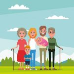 family-and-grandparents-with-kids-cartoon